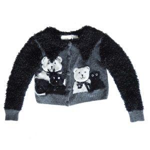 Cache Vintage Angora and Wool Cardigan